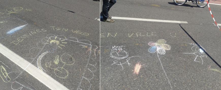 dessines ton vélo en ville